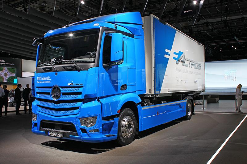 電動卡車也是Mercedes-Benz這次車展的重頭戲。