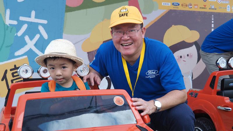 活動不僅由Ford全球慈善基金會捐款資助靖娟基金會,福特六和汽車總裁朱忠園更親自出席,率領員工一同做志工。