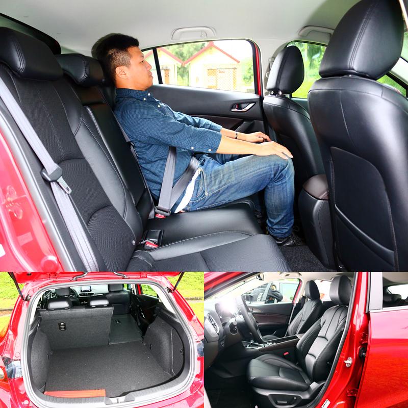 Mazda 3的空間表現從來就不強,但乘坐舒適性與質感則較突出,而銷售表現則證明空間表現並未造成影響。〈乘坐人員身高172cm〉