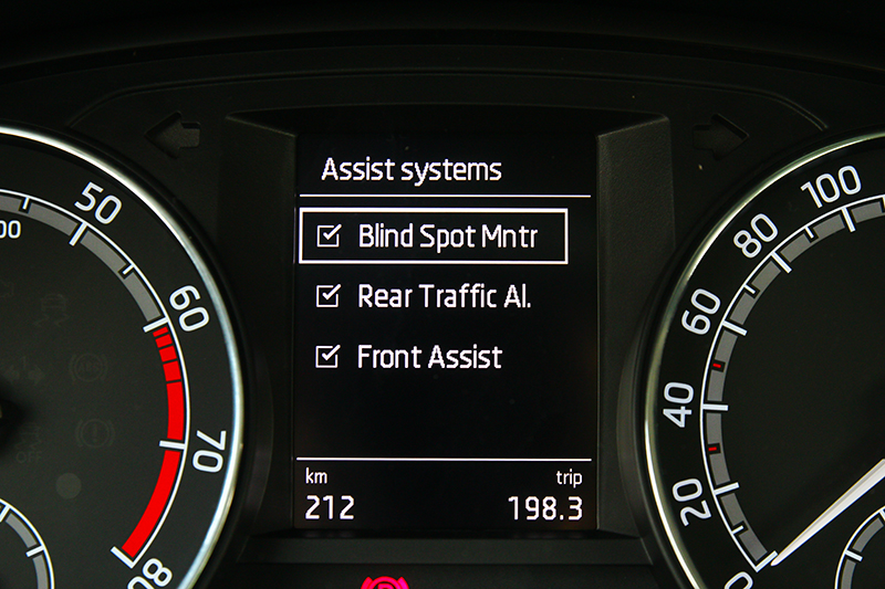 小改Fabia最大進化就是導入ACC主動車距定速巡航與AEB主動煞車系統。