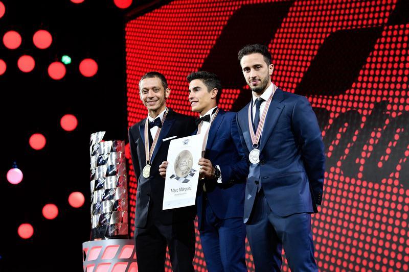 2018 MotoGP賽事最終由Marquez封王,而Dovizioso與Rossi則分別為年度亞軍與季軍。