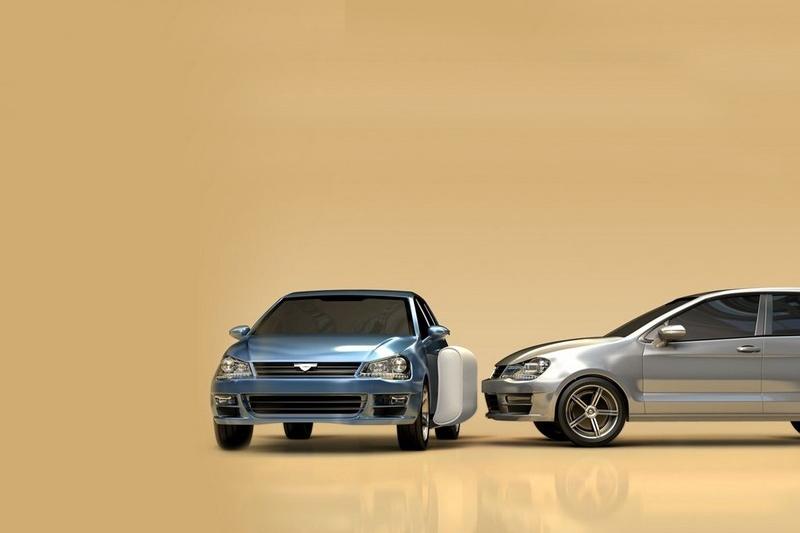 ZF車側氣囊能在車輛間形成保護緩衝,藉以降低傷害達40%。