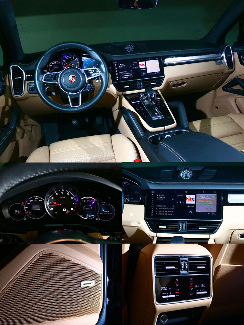 數位化操控介面與選配的BOSE音響、四區恆溫空調讓Cayenne座艙充滿豪華與科技氛圍。