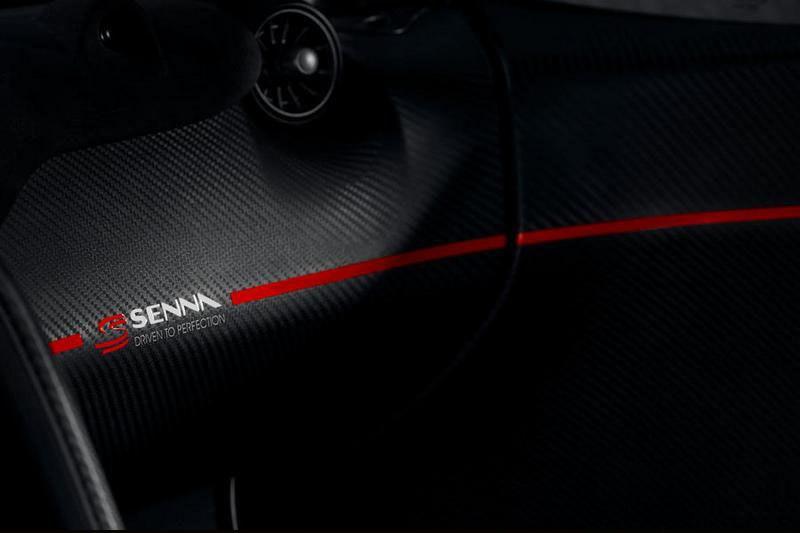 儀表平台、方向盤與賽車座椅等處皆有Senna字樣。