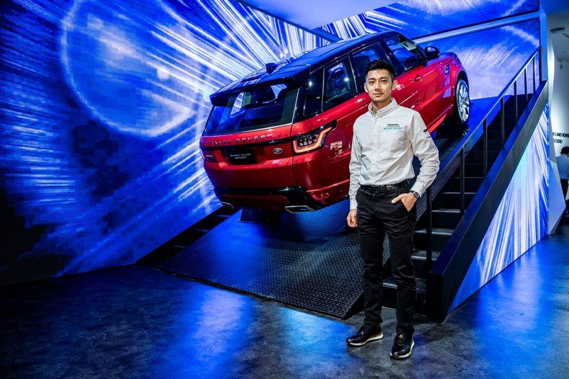 捷豹電動方程式官方車手董荷斌 (Ho-Pin Tung) 也出席開幕剪綵活動。