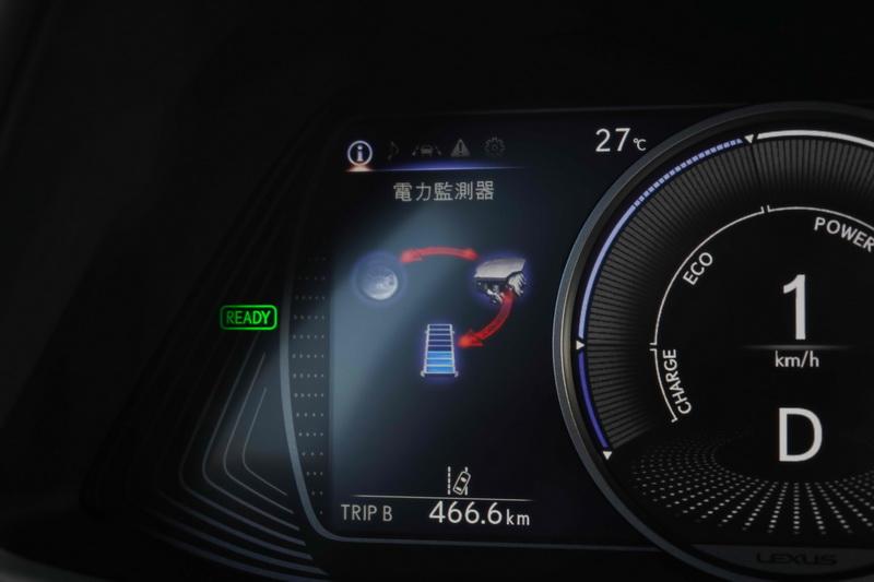 透過螢幕的圖示可了解當下動力傳輸的狀態