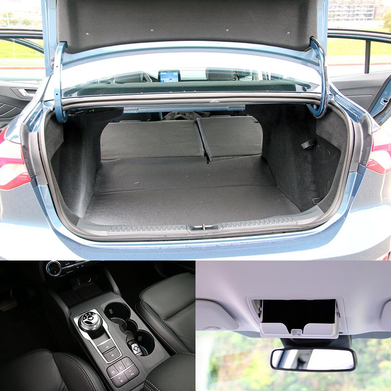 新Focus後行李廂基本容積達511L,同時鞍座部分在改用電子手煞車設計與相關按鍵集中放置後,讓此處空間運用更為便利。