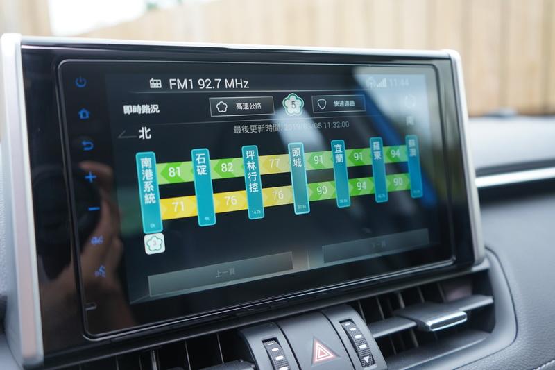 透過4G訊號還能即時傳送各地的交通流量與路況
