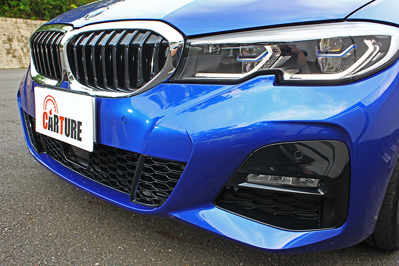 由於試駕車清一色為M Sport版本,因此皆具備這般霸氣樣貌。