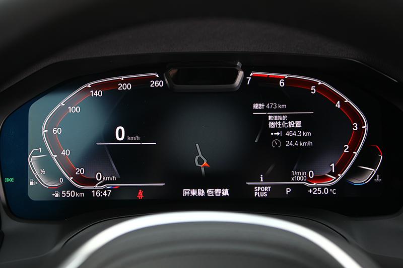 12.3吋液晶儀錶畫質絕佳,同時可以呈現豐富行車相關資訊。