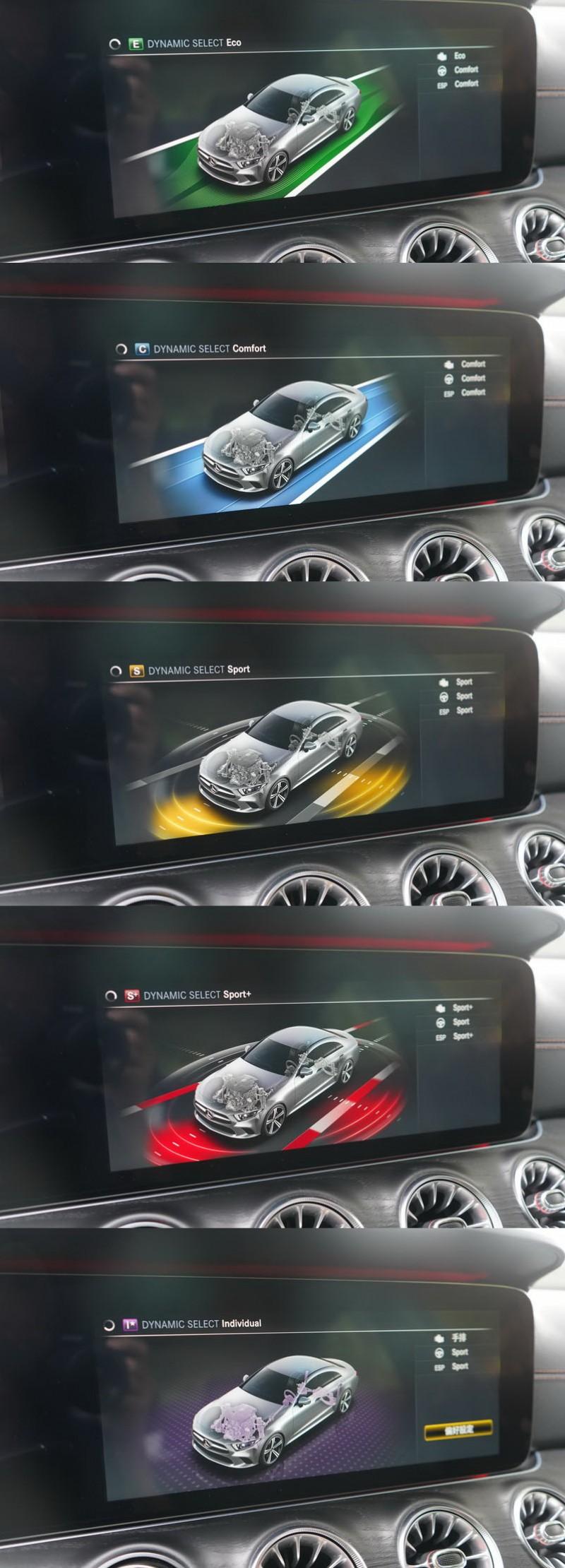 五種駕駛模式可提供不同的駕馭調性