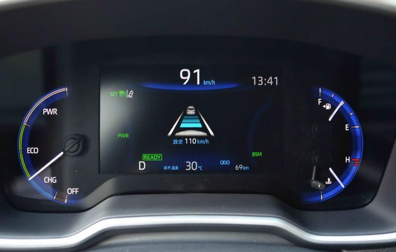 ACC非全速域控制,僅能在時速30 km/h~180 km/h的條件下作動