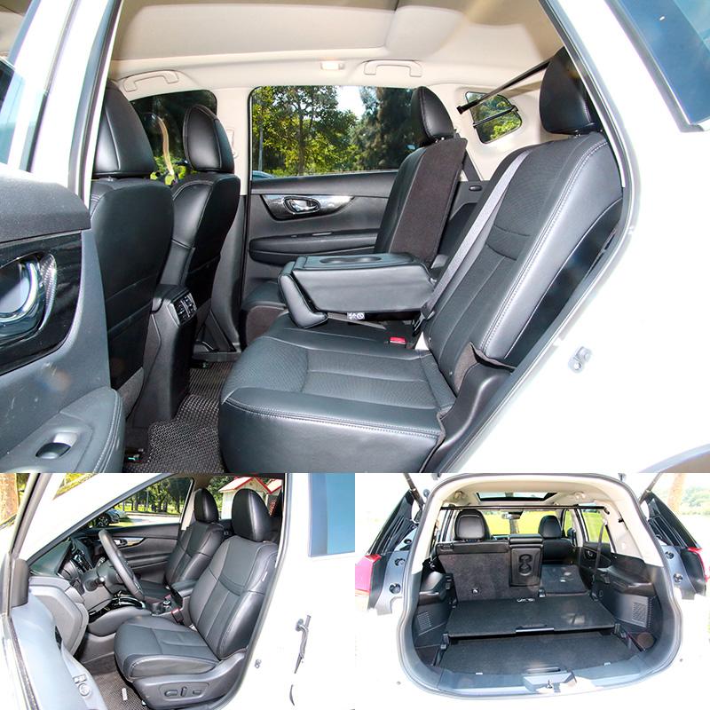 X-Trail是唯一配有後座座椅前後滑移功能的車款,空間運用最具彈性,此外,座椅也頗為舒適。