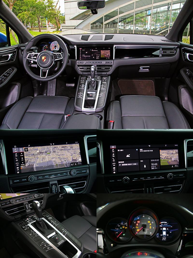導入全新PCM保時捷通訊管理系統,具備10.9吋的觸控液晶螢幕,並且將控台中央的冷氣出風口下移,是座艙中最大改變。