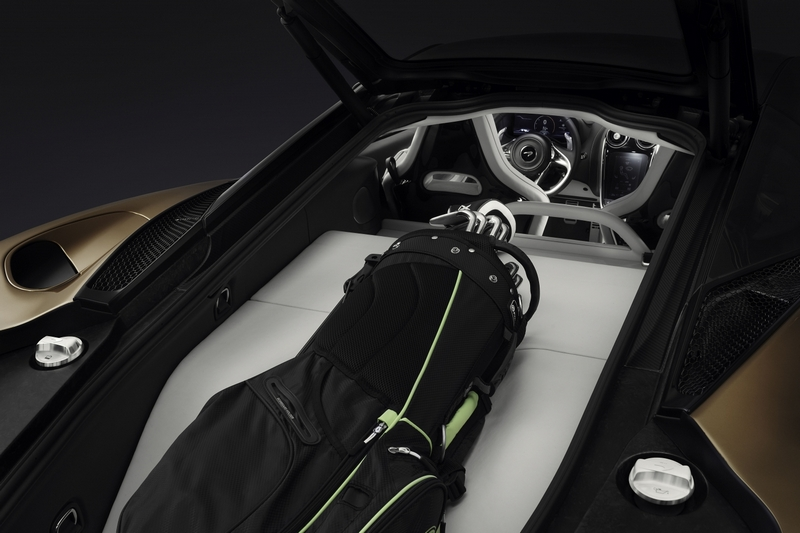 McLaren GT車尾具有420公升置物空間,車頭前方也有150公升可以收納使用。