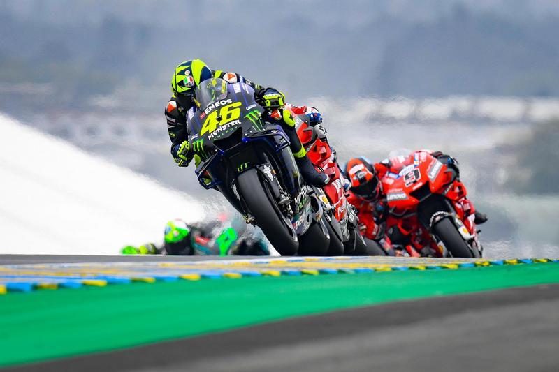 Rossi本來有機會可以站上頒獎台,但最終未能守住。