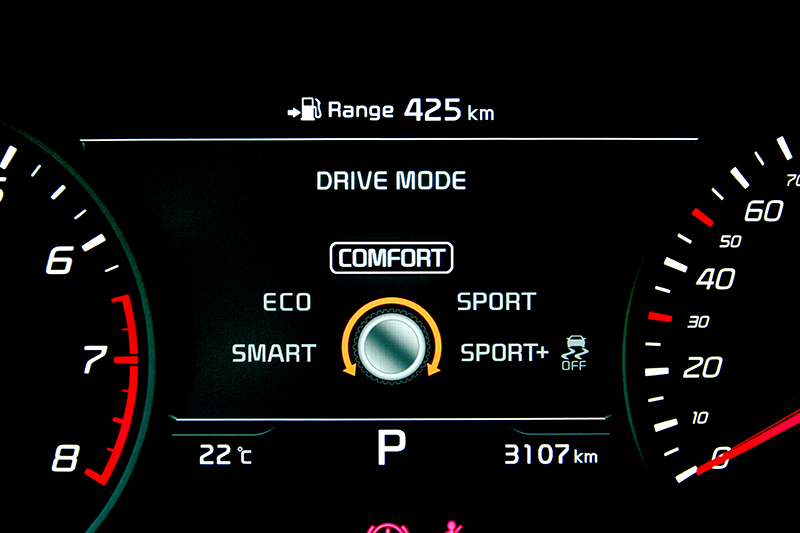 2.0T GT-Line一樣擁有五種行車模式,不過各模式間的輸出反應差異並不明顯。