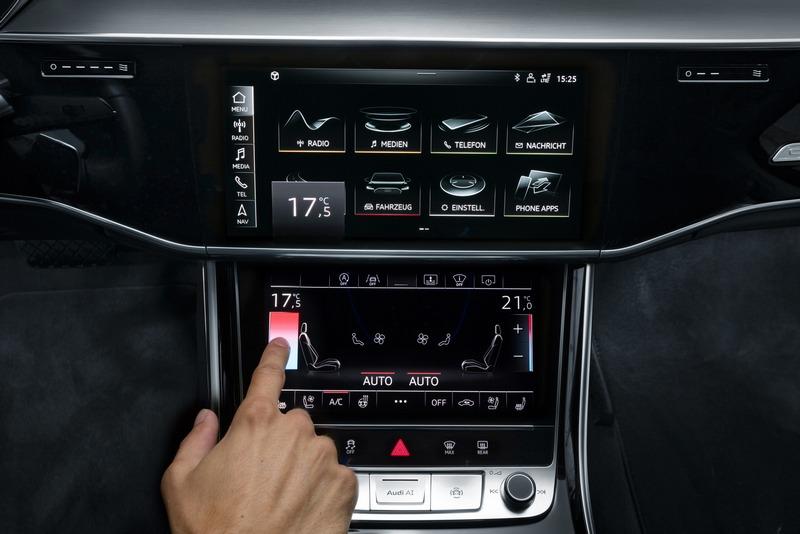 全新Audi Virtual Cockpit全數位虛擬座艙科技捨棄傳統按鍵與旋鈕設計。