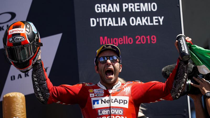 Petrucci奪下個人在MotoGP級別首勝。