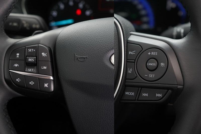 方向盤上同樣皆配有半自動駕駛系統相關功能鍵