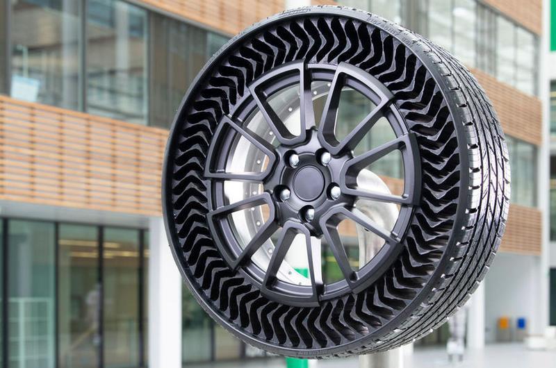 米其林免充氣輪胎將於2024年上路。