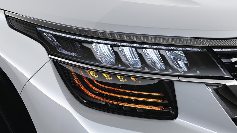 分離式頭燈讓Seltos有著前衛科技的樣貌。