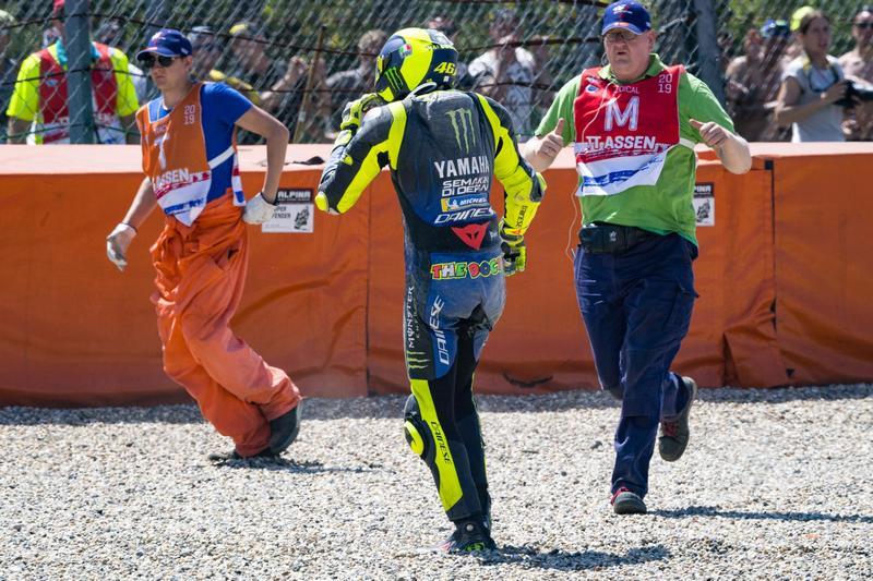 Rossi真得很衰,已經連三場摔車退賽。