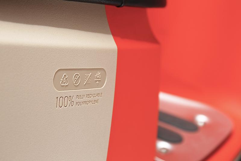 Gogoro 3車殼採PP材質,具有防刮無須烤漆特性。