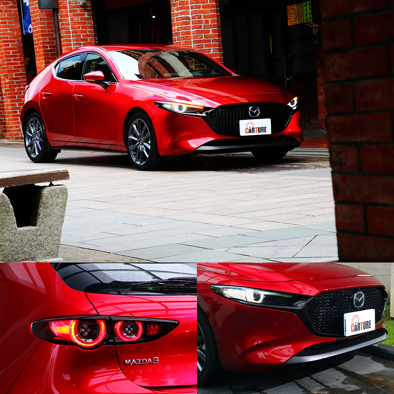 長車頭、六角型水箱護罩與LED環形頭尾燈組仍延續Mazda近年的設計語彙。