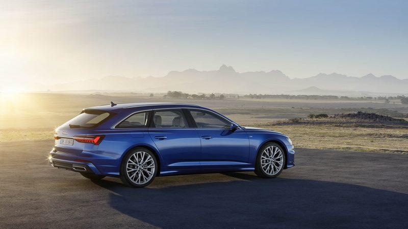 Audi A6 Avant 繼承Audi Prologue概念車的設計語彙,更寬大的六角型水箱護罩與更鋒利的車身折線,展現出洗練氣派的風格。