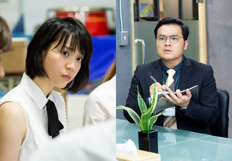 左起:何佳佳(程予希飾演)與李從白(黃浩詠飾演)