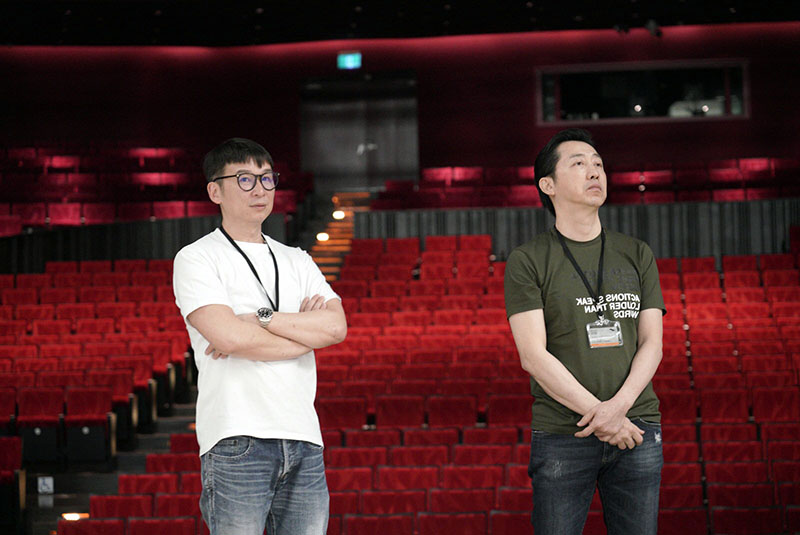 左起::陳鎮川、庾澄慶(哈林)