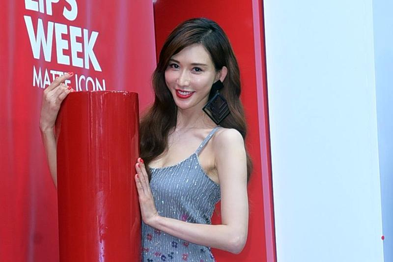 林志玲婚後首度在台灣公開露面