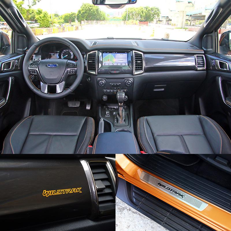 Ranger內裝鋪陳質感並不會輸給一般的SUV。
