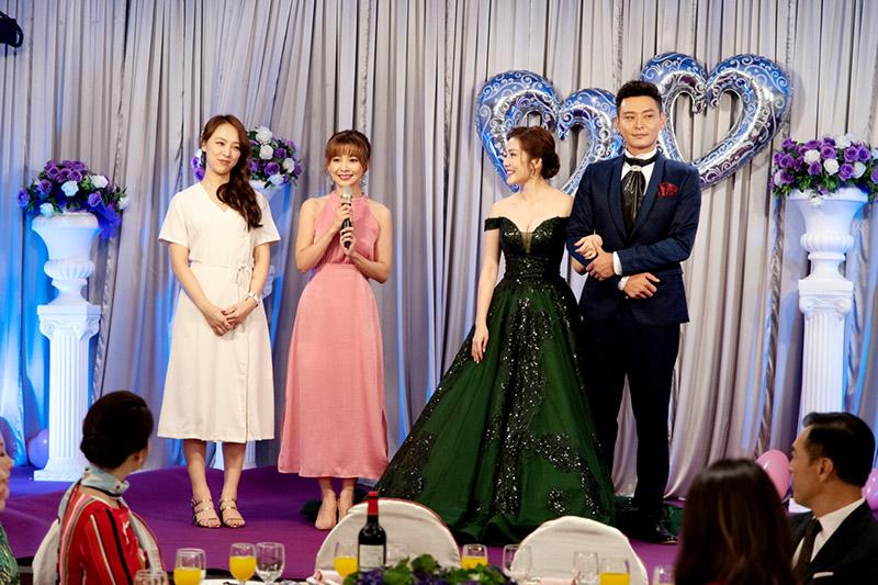 (左起)勇兔、吳婉君、王宇婕及陳冠霖