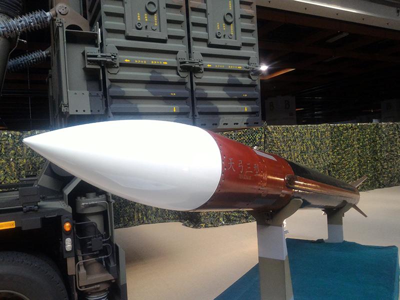 台灣防空主力之天弓三型飛彈。
