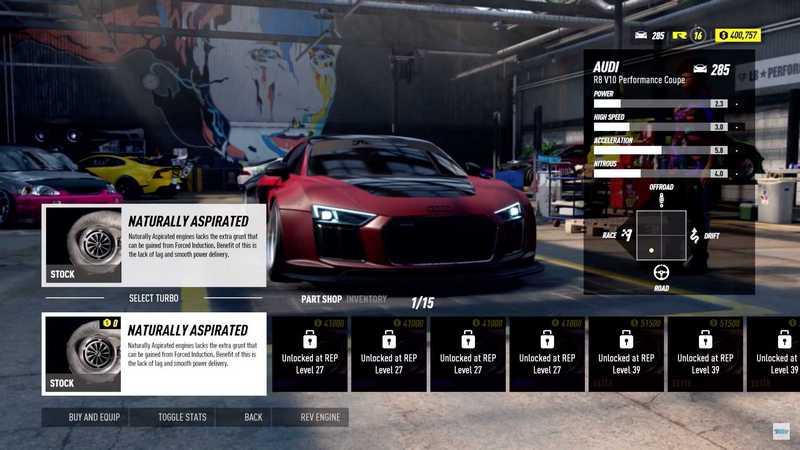 透過贏得比賽賺取獎金來改裝車輛。