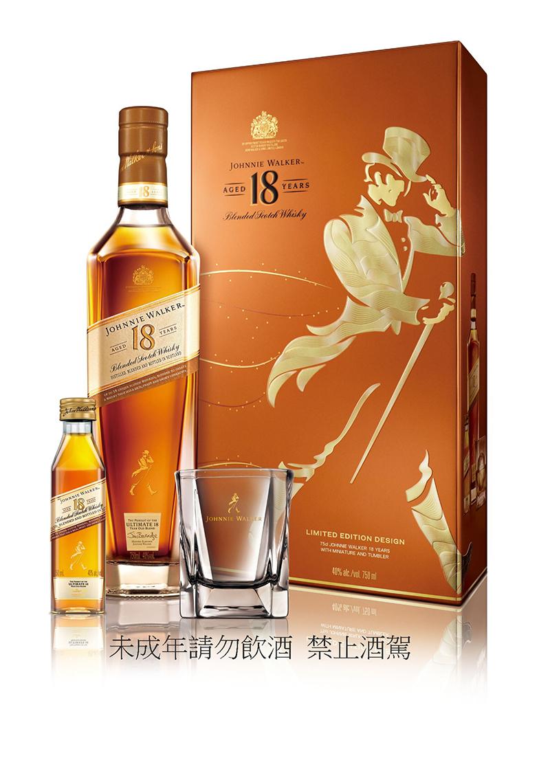Johnnie Walker 18年蘇格蘭威士忌禮盒,建議售價NT$1,980