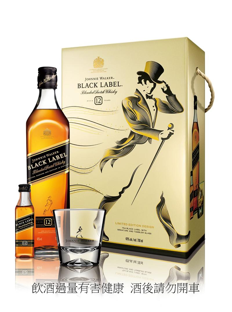 Johnnie Walker 黑牌12年蘇格蘭威士忌禮盒,建議售價NT$820