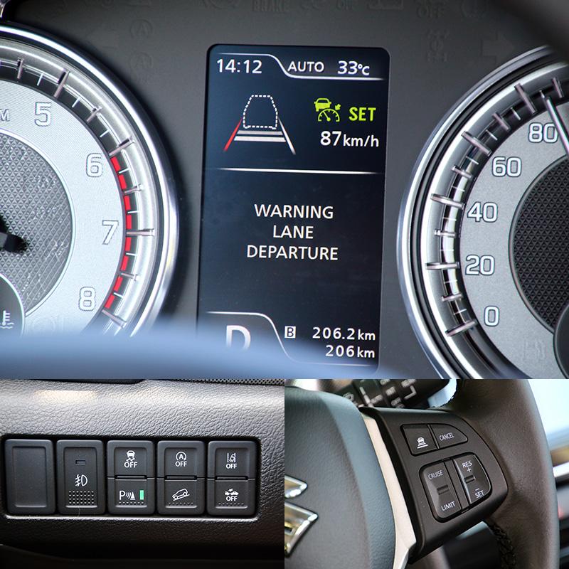 本次Vitara改款最重要的改變就是增加了多項主動安全配備,再加上原本就有的斜坡緩降系統、車身動態穩定系統等,讓整體安全防護更為提升。