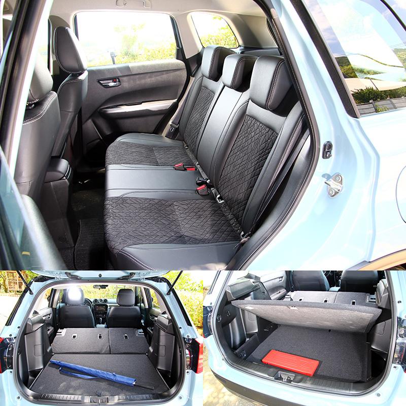 Vitara拜較方正的車體設計,空間表現同樣在同級車中有所優勢。
