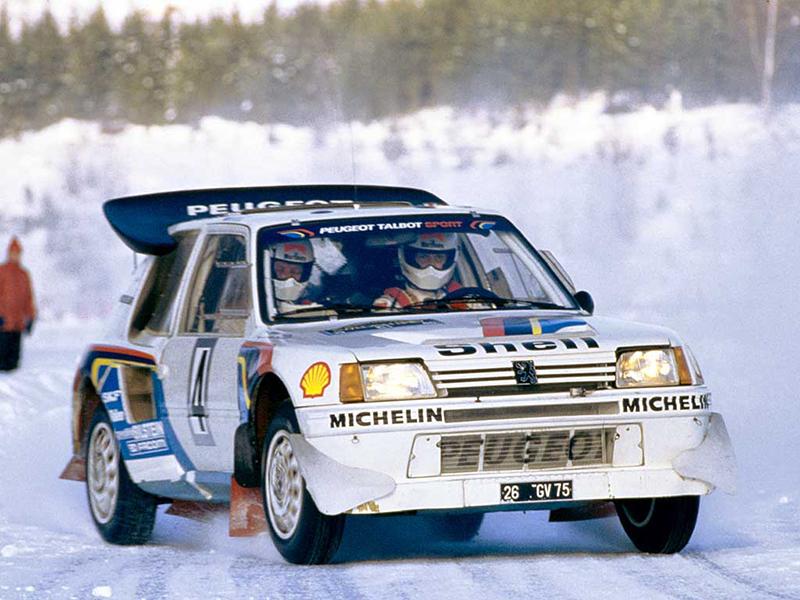 Group B經典賽車205 Turbo 16,在1985年與1986年都拿下WRC年度車隊冠軍,輕鬆完成二連霸大業。
