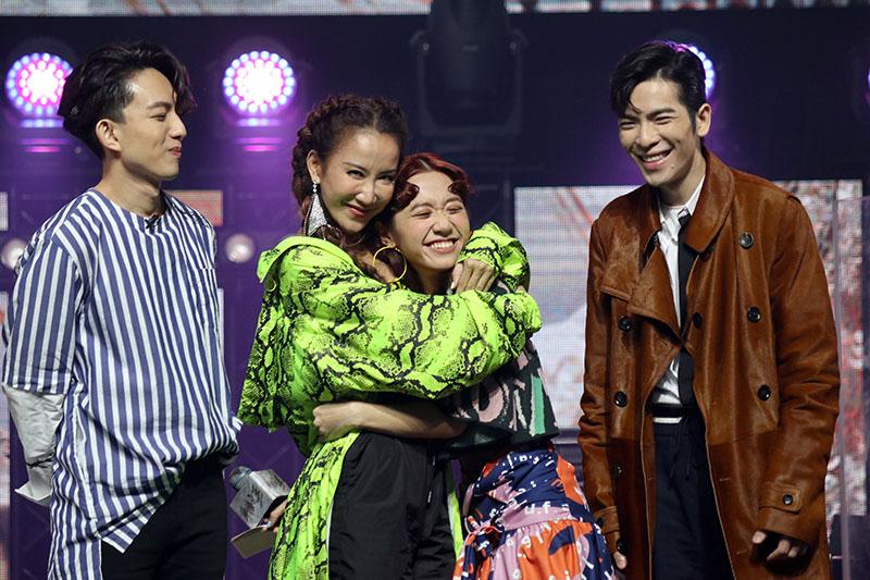 (左起)林宥嘉、李玟、Lulu及蕭敬騰