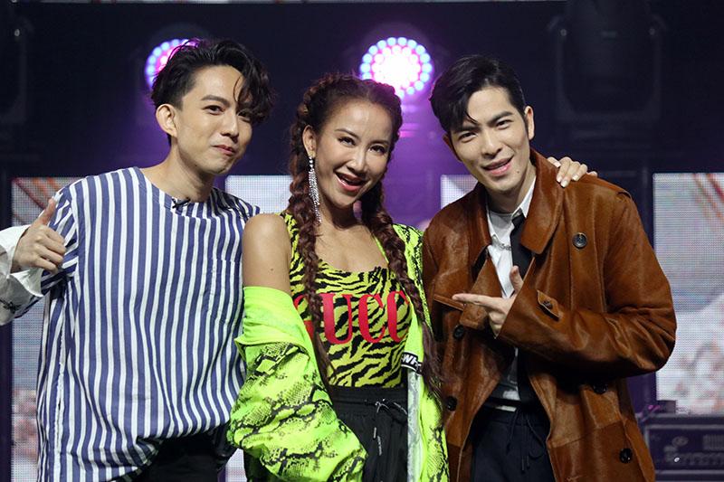 (左起)林宥嘉、李玟、蕭敬騰