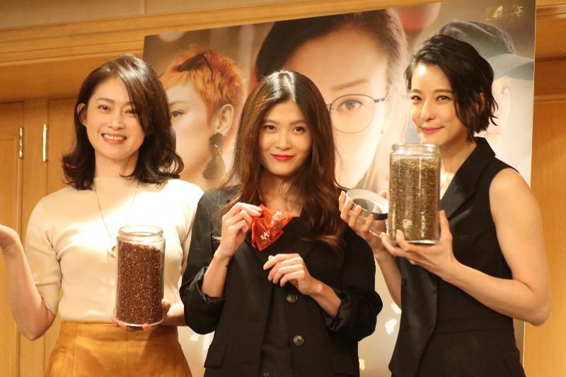 (左起)劉瑞琪、賴雅妍及導演麥曦茵