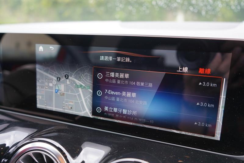 附語音聲控的MBUX多媒體功能、原廠導航、交通號誌輔助必須選購多媒體套件才能擁有
