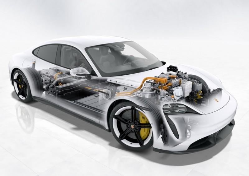 Taycan由於無內燃機限制,因此車頭前端的潰縮區可運用空間更廣