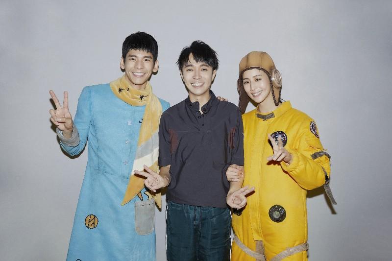 (左起)林柏宏、吳青峰及張鈞甯