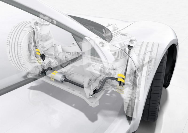 Taycan採用4D底盤為基礎,還將PDCC動態底盤系統升級至反應更快的Sport等級