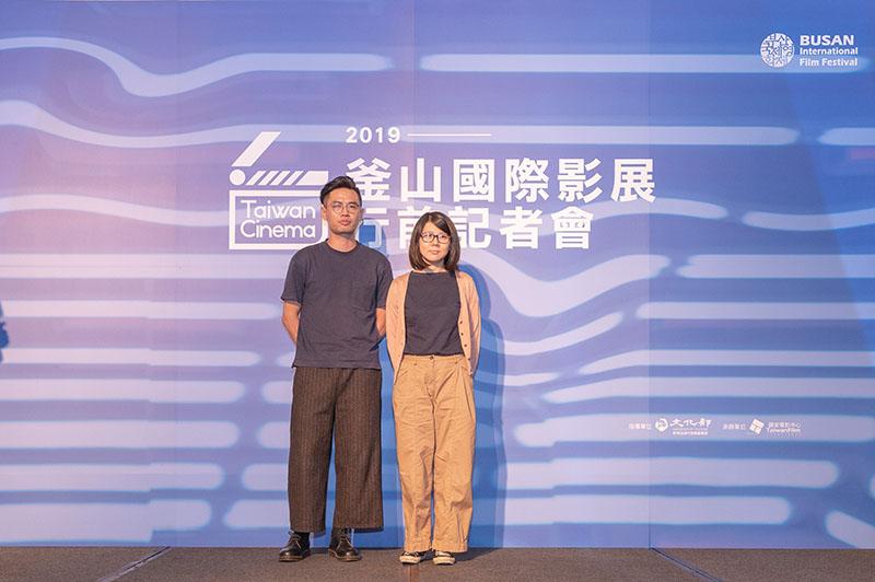 左起:《一家子兒咕咕叫》導演詹京霖、製片林怡伶